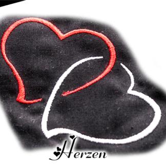 Zwei Herzen Ineinander Verschlungen Stickdatei Spratly Design